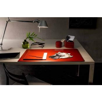 Accesorios de escritorio en cuero regenerado 5 piezas Made in Italy - Ebe
