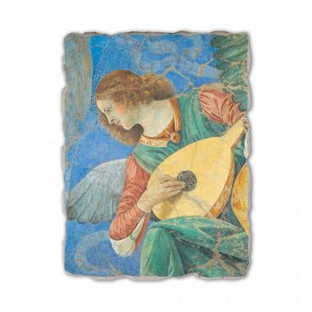 Fresco Melozzo da Forlì, Ángel con laúd, hecho a mano