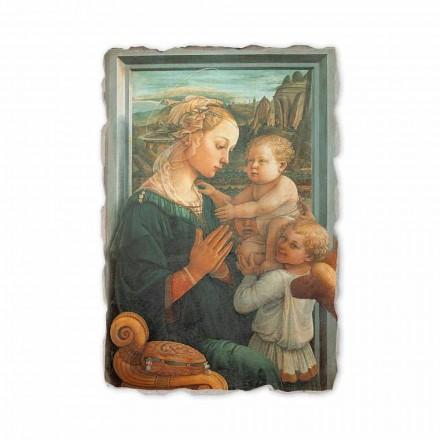 Fresco Filippo Lippi La Virgen con el niño hecho en Italia