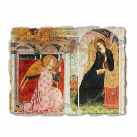 Fresco La Anunciación de fraile Ilario da Viterbo-fragmento