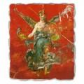 Fresco grande Arte Romana Ciclo de las Musas hecho en Italia