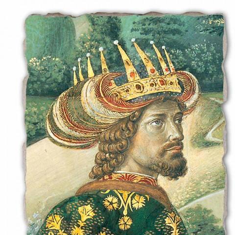 """El gran fresco Gozzoli Procesión de los Magos con el rey Melchor """""""