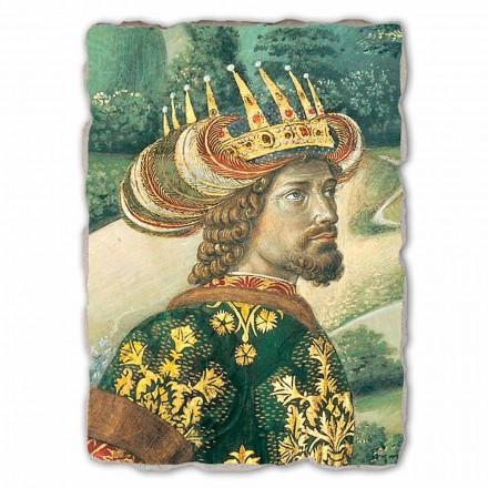 Fresco grande Gozzoli, Cortejo de los Reyes Magos, Melchor