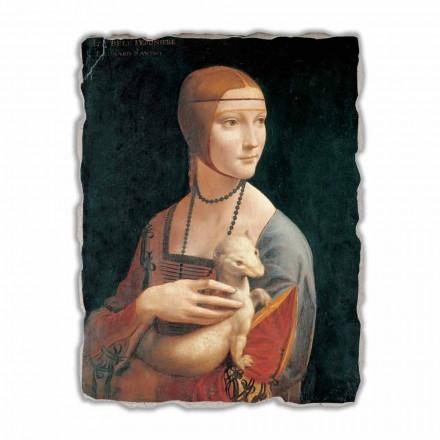 Fresco grande Leonardo da Vinci, La dama del armiño