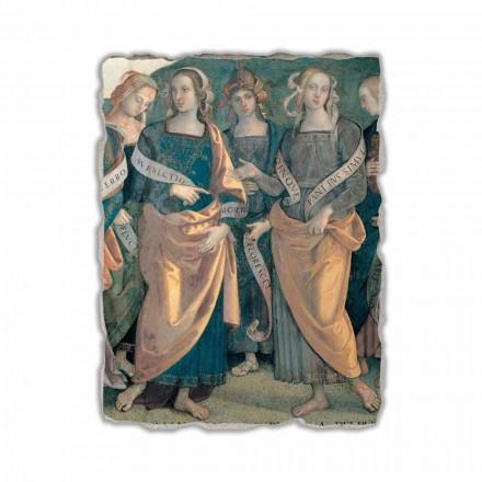 Fresco Perugino Eterno tra Angeli, Profeti e Sibille-frag