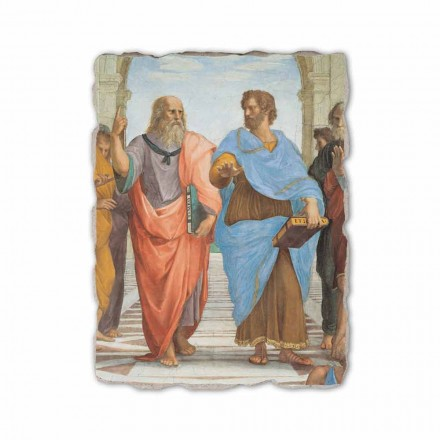 Fresco R. Sanzio Escuela de Atenas frag Platón y Aristóteles