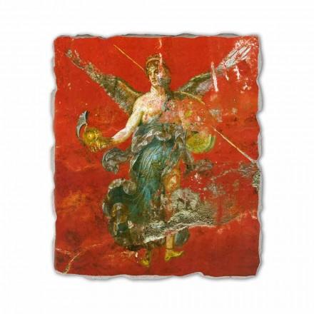 Fresco reproducción Arte Romana Ciclo de las Musas fragmento