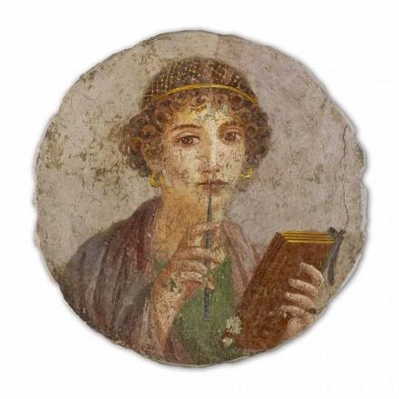 Fresco reproducción grande Arte Romana La Poetisa