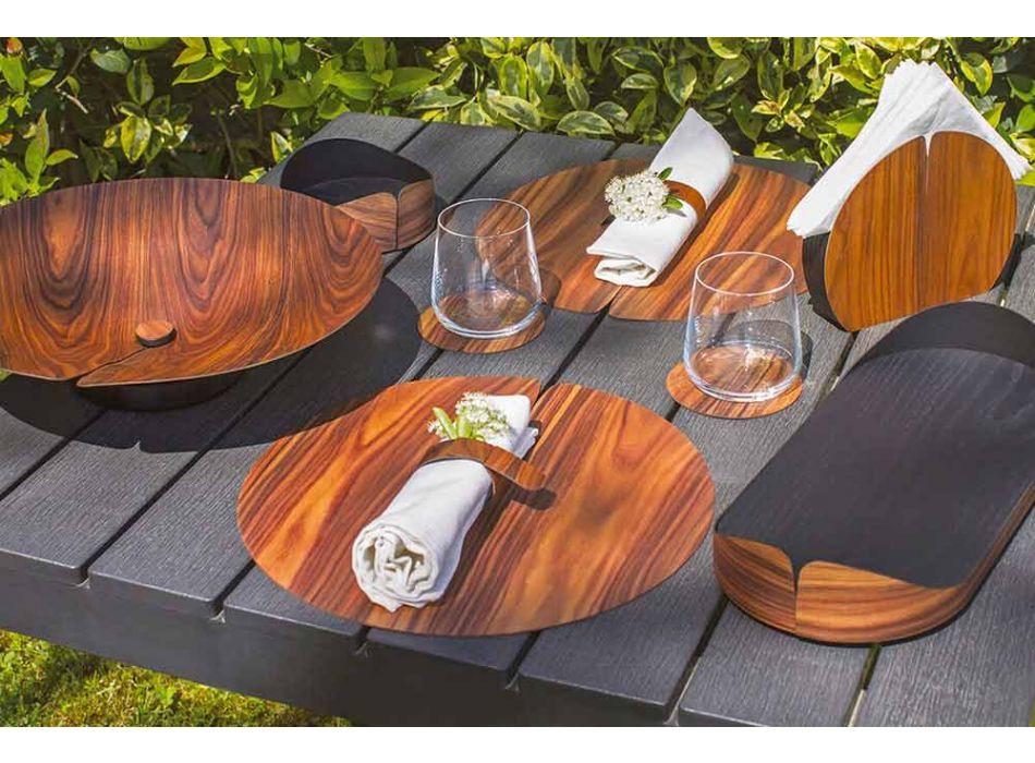 Servilletero de madera de diseño moderno hecho en Italia - Stan