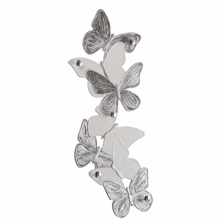 Percha de pared con diseño de mariposas 5pomelli made in Italy Brice