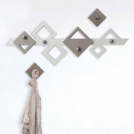 Colgador de pared de madera blanco y beige Diseño geométrico moderno - Klimt
