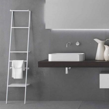 Perchero de escalera de diseño moderno blanco o en color - Caloina