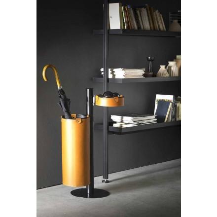 Percha de cuero de diseño moderno Made in Italy - Adelfo