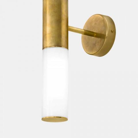 Aplique de pared con 2 luces de latón y vidrio Made in Italy - Etoile de Il Fanale