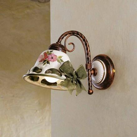 Pared pared de cerámica decorado rústico Ferroluce Napoli