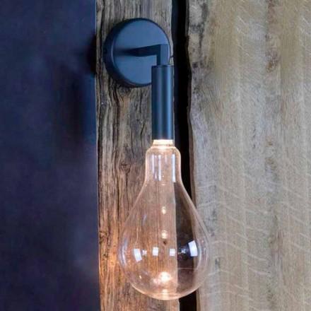 Lámpara de pared para exterior en hierro y aluminio con LED incluido Made in Italy - Luccico