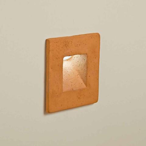 Aplique de exterior cuadrado, terracota coloreada - Toscot