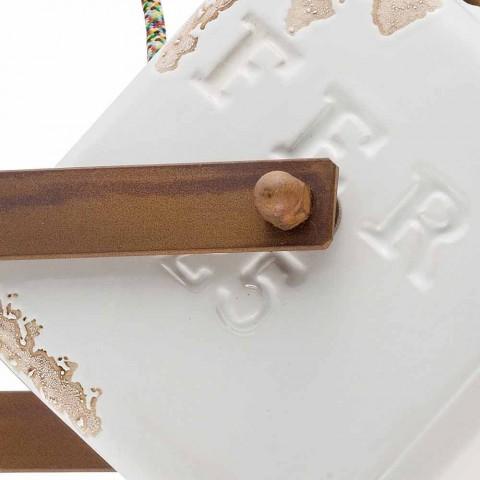 Aplique de pared de estilo industrial de la vendimia de cerámica y hierro Julia