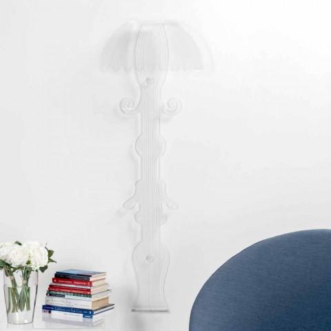 Lámpara de pared de diseño en plexiglás transparente producido en Italia, Scilla