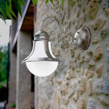 Aplique de cobre y vidrio soplado blanco modelo Loggia