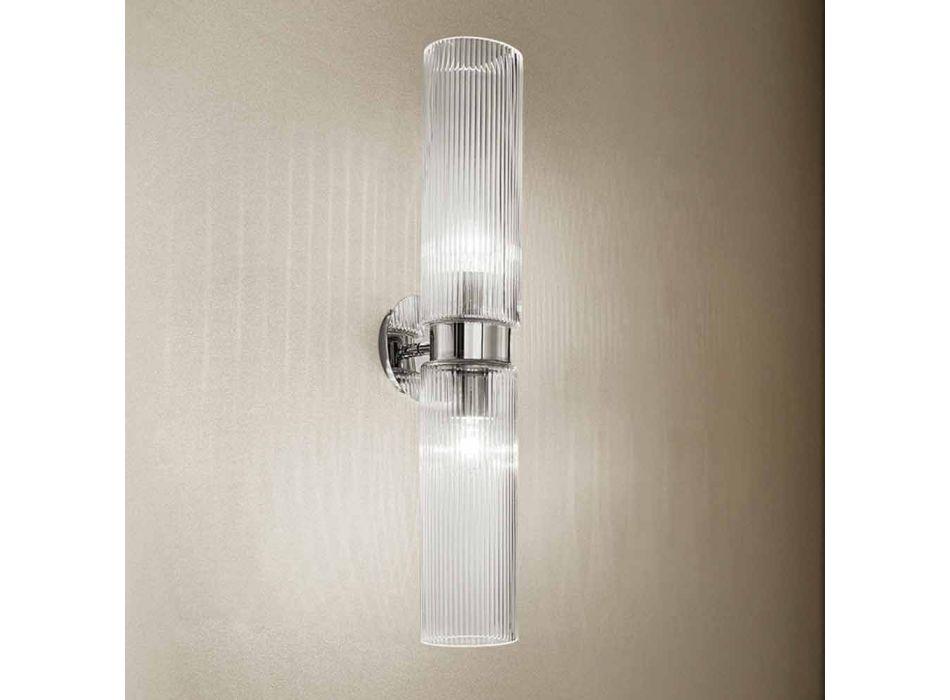 Aplique veneciano de vidrio con acabado de cristal, hecho a mano en Italia - Larissa