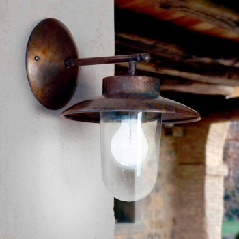 Applique La Traviata cobre, vidrio y latón antiguo