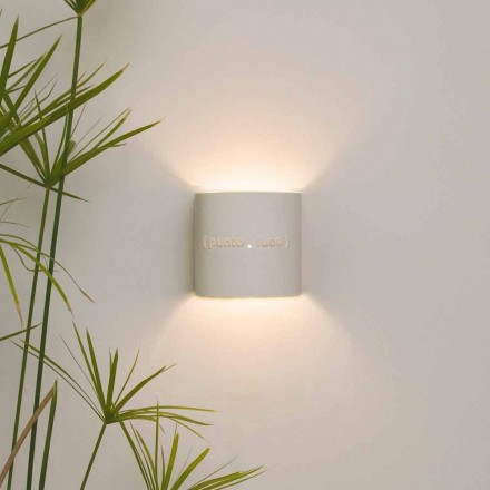 Lámpara de pared moderna de nebulita en dos tonos Diseño In-es.artdesign Punto Luce