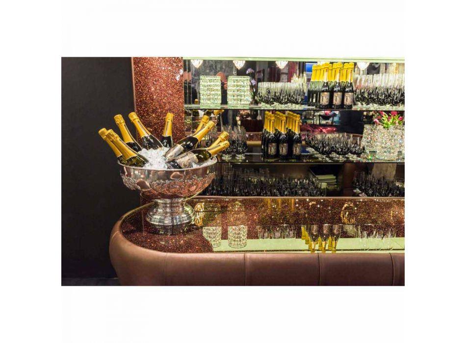 Barra de bar con tapa de cristal brillante Made in Italy, lujo - Calcuta