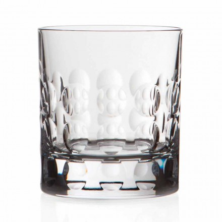 Vasos de whisky de cristal doble antiguo 12 piezas - Titanioball
