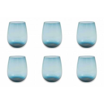 Servicio de vasos de agua de vidrio moderno y coloreado de 6 piezas - Aperi