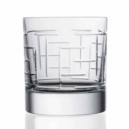 Vasos de whisky escocés de cristal doble Old Fashion 12 piezas - Arritmia