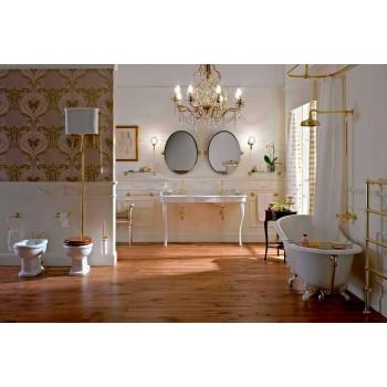 Bidé de diseño clásico en cerámica blanca Made in Italy - Paulina