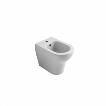 Bidet de cerámica blanca de diseño moderno 54x35 cm, hecho en Italia