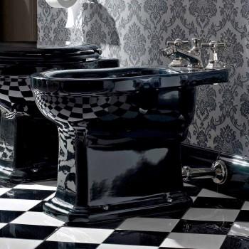 Bidé en cerámica clásica blanca o negra del suelo Made in Italy - Marwa