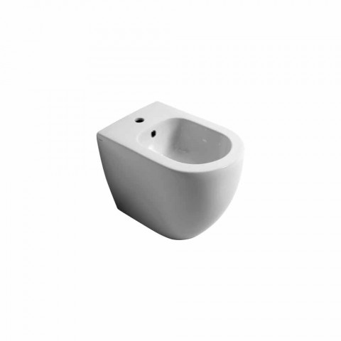 Moderno bidé de cerámica Shine Square Rimless 54x35cm hecho en Italia