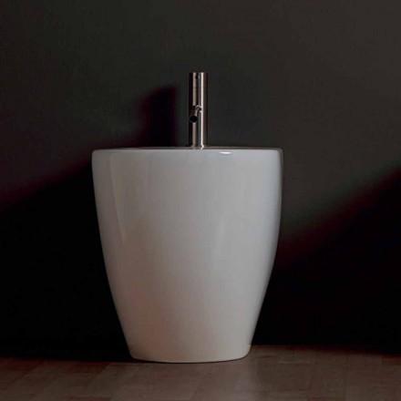 Bidé de cerámica moderna Shine Square sin marco 54x35cm hecho en Italia