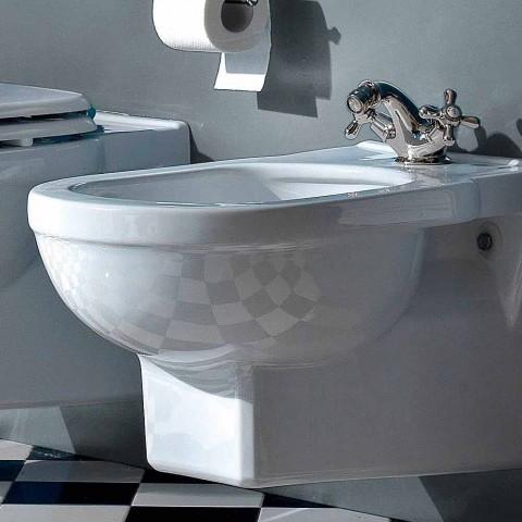 Bidé clásico de un orificio en cerámica blanca Hecho en Italia - Marwa