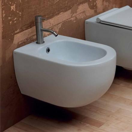 Colgante de pared de cerámica de diseño moderno, bidé Star 55x35cm hecho en Italia