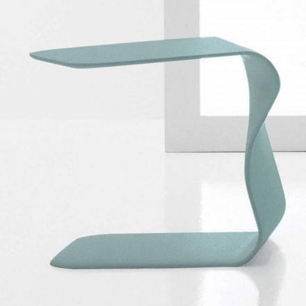 Mesa de centro de diseño Bonaldo Duffy 48x60 poliuretano lacado hecho en Italia