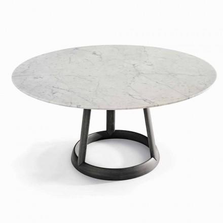 Diseño de mesa redonda Bonaldo Greeny Suelo de mármol Carrara hecha en Italia