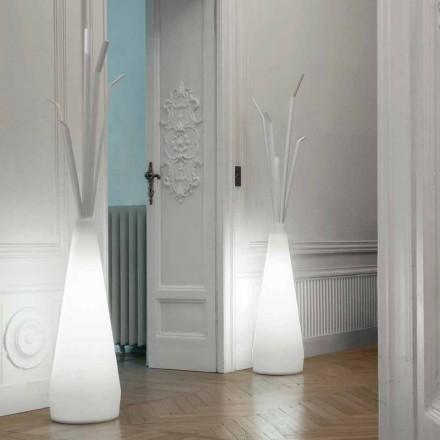 Perchero Bonaldo Kadou con luz de diseño de polietileno fabricado en Italia
