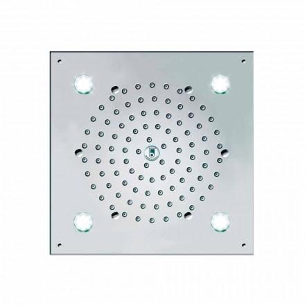Rociador de ducha con 4 luces LED modelo Cube-Light Bossini