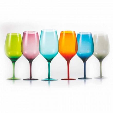 Copas de vino de color blanco o rojo en vidrio 3 Variantes 12 Piezas - Aperi