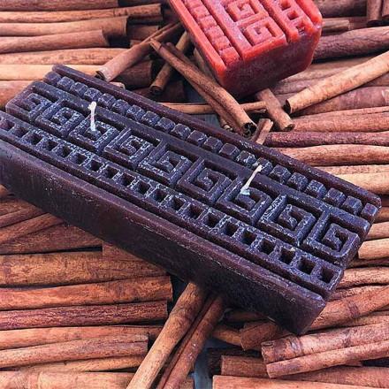 Vela perfumada de canela rectangular hecha a mano Made in Italy - Alissa