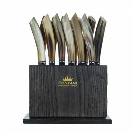 Bloque magnético en madera de olivo y castaño de 12 Made in Italy - Bloque