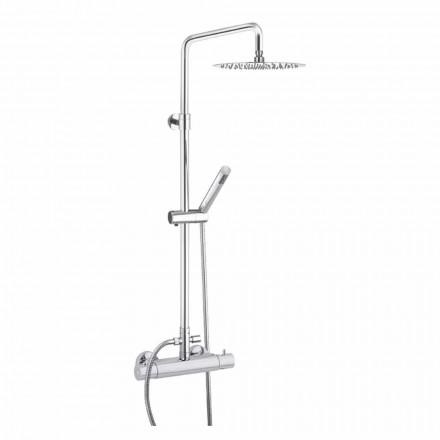 Columna de ducha con cabezal de ducha de acero ultrafino Made in Italy - Studio