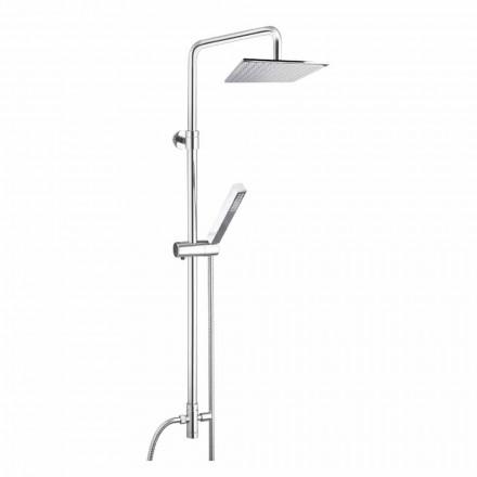 Columna de ducha de latón con rociador y teleducha en Abs Made in Italy - Lesio