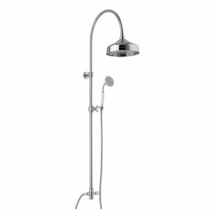 Columna de ducha de latón con cabezal de ducha y ducha de mano de abs Made in Italy - Rimo