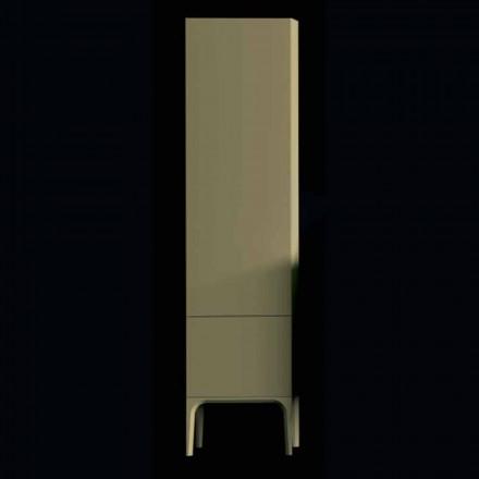 Columna de baño 2 puertas de madera ámbar, de diseño moderno, fabricado en Italia