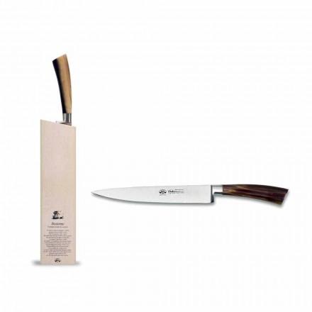 Cuchillo Pescador Equipado con Bloque, Berti Exclusivo para Viadurini - Reano